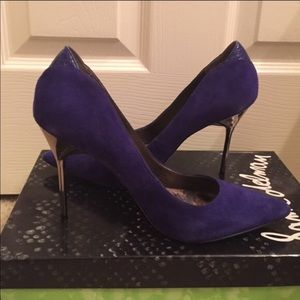 Sam Endelman blue suede pumps